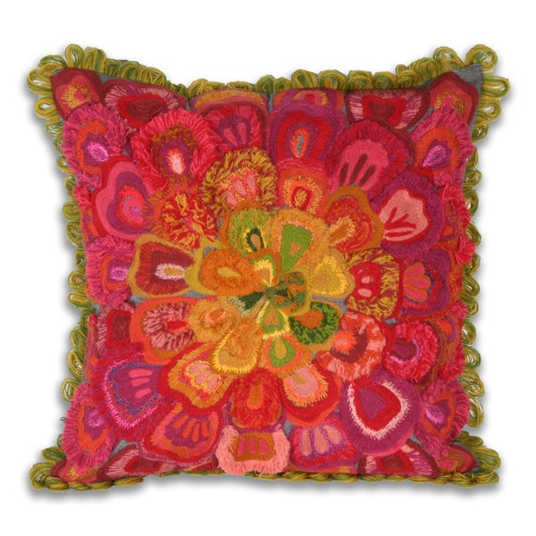Marlo Lorenz Fabiana Flower 14-inch Square Pillow