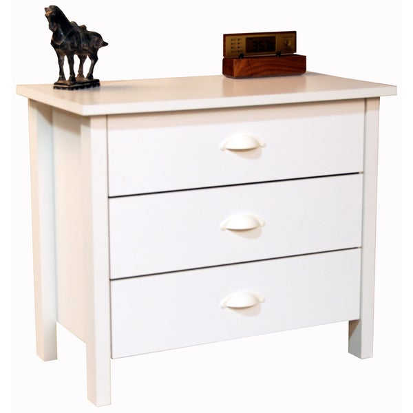 venture horizon white finish 3 drawer chest 1