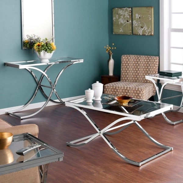 Chrome Table Collection with Mirror