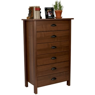 Venture Horizon Walnut Finish 6-drawer Chest