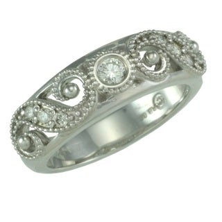 14k White Gold 1/5ct TDW Diamond Ring (G, SI1)