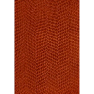 Jovi Home Burnt Orange Diagonal Hand Tufted Rug (8' x 11')