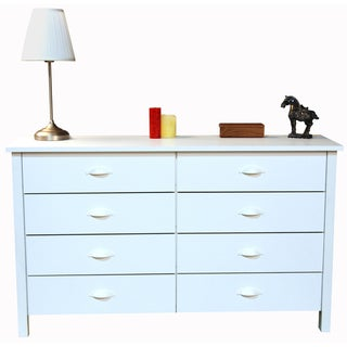 Venture Horizon White Finish 8-drawer Chest