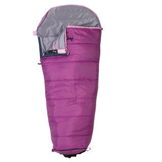 Slumberjack Go-N-Grow Girls 30 Degree Short RH Sleeping Bag