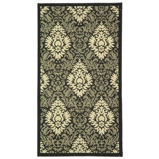 Safavieh Courtyard Black/ Sand Indoor Outdoor Rug