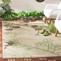 Safavieh Courtyard Natural/ Olive Indoor Outdoor Rug
