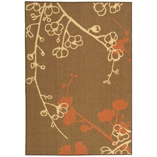 Safavieh Courtyard Brown/Natural Indoor Outdoor Polypropylene Rug