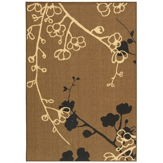 Safavieh Courtyard Brown/ Black Indoor Outdoor Rug