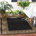 Safavieh Courtyard Black/ Coffee Indoor Outdoor Rug