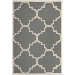 Safavieh Courtyard Grey/Beige Moroccan-Style Indoor-Outdoor Rug