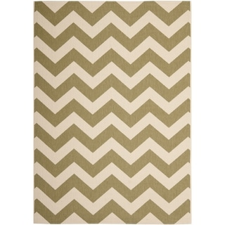 Safavieh Courtyard Green/Beige Indoor/Outdoor Area Rug (8' x 10')