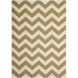 Safavieh Courtyard Green/ Beige Indoor/ Outdoor Area Rug