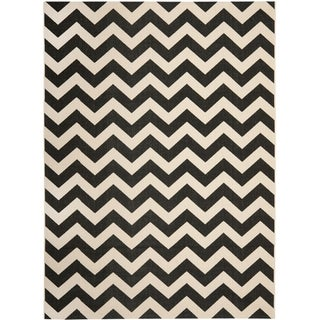 Safavieh Courtyard Black/ Beige Indoor Outdoor Rug
