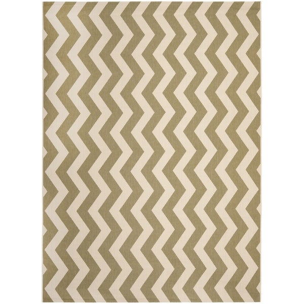Safavieh Courtyard Green/ Beige Indoor Outdoor Rug