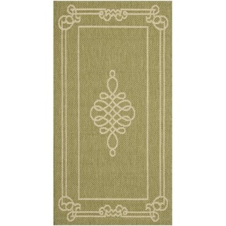 Safavieh Courtyard Green/ Cream Indoor Outdoor Rug