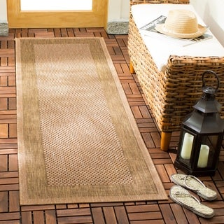 Safavieh Courtyard Natural/ Gold Indoor Outdoor Rug