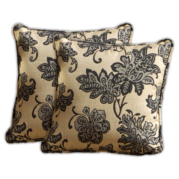 RST Brands 'Delano' Jacquard Square Pillows (Set of 2)
