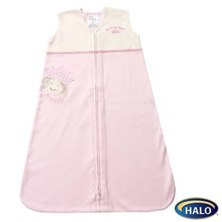 Halo Pink Princess Cotton SleepSack Wearable Blanket Applique