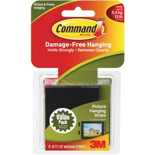 3M Command Medium Picture Hanging Strips (Six Pack)