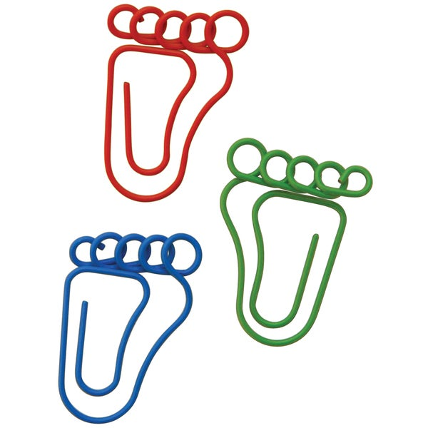 Feet-shaped Carded Paper Clips (Pack of 20)