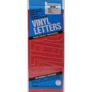 Red Gothic Permanent Adhesive Vinyl Numbers 6-inch