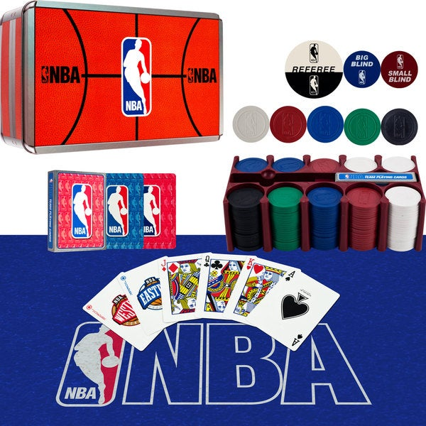 NBA 200-Chip Poker Set with Collector's Tin (Set of 5)