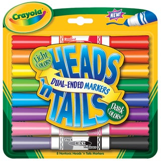 Crayola Heads 'n Tails Double-ended Markers (Pack of 8)