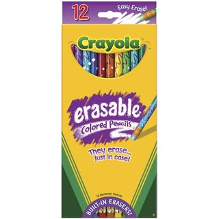 Crayola Erasable Colored Pencils (Pack of 12)