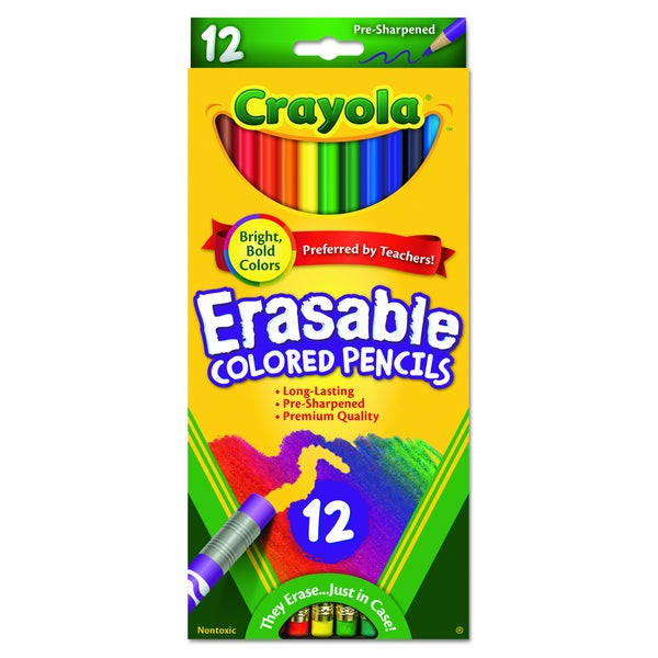 Crayola Erasable Colored Pencils (Pack of 12) 9992475