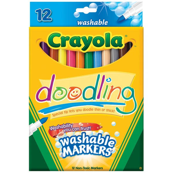 Crayola Doodling Washable Markers (Pack of 12)
