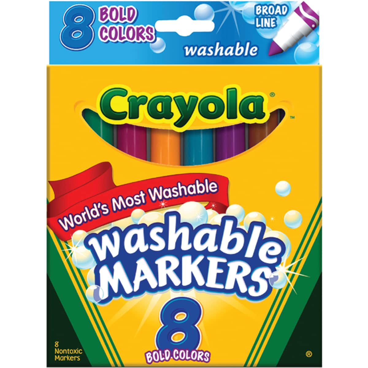 Crayola Broad Line Washable Markers (Pack of 8) at Sears.com
