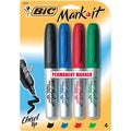 Bic Mark-It Chisel Tip Permanent Markers (Pack of 4)