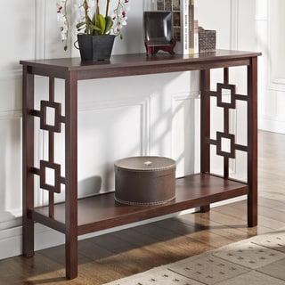 Espresso Square Design Console Sofa Table