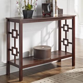 Espresso Square Design Console Sofa Table