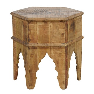Hilton Octagonal Wood Stool