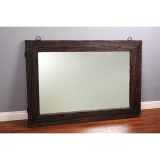 Reclaimed Railway Tie Wood 65-inch Mirror