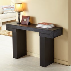 Furniture of America Tiffy-Tee Black Finish Sofa Table