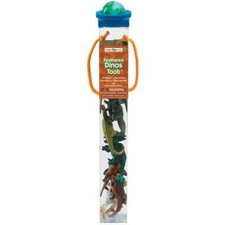 Safari Ltd 'Feathered Dinos' Plastic Miniatures in Toobs (Pack of 12)