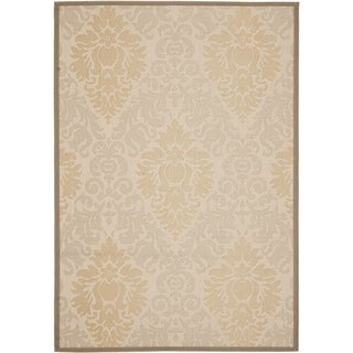 Safavieh Beige/Dark Beige Indoor/Outdoor Area Rug (9' x 12')