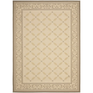 Safavieh Beige/ Dark Beige Indoor Outdoor Rug (9' x 12')