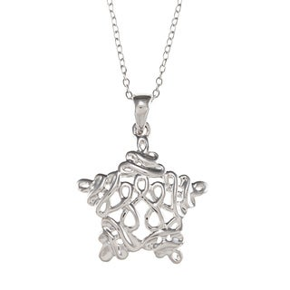 Sunstone Sterling Silver Infinity Star Necklace