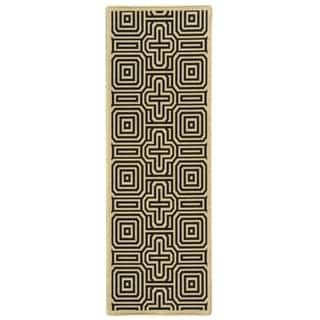 Safavieh Sand/ Black Indoor Outdoor Rug (2'2 x 12')