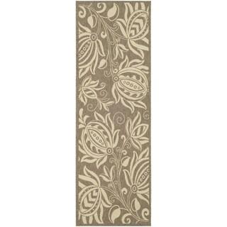 Safavieh Brown/ Natural Indoor/ Outdoor Polypropylene Rug (2'2 x 14')