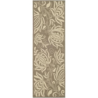 Safavieh Brown/ Natural Indoor/ Outdoor Runner Rug (2'2 x 12')