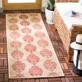 Safavieh Natural/ Red Indoor Outdoor Rug (2'2 x 12')