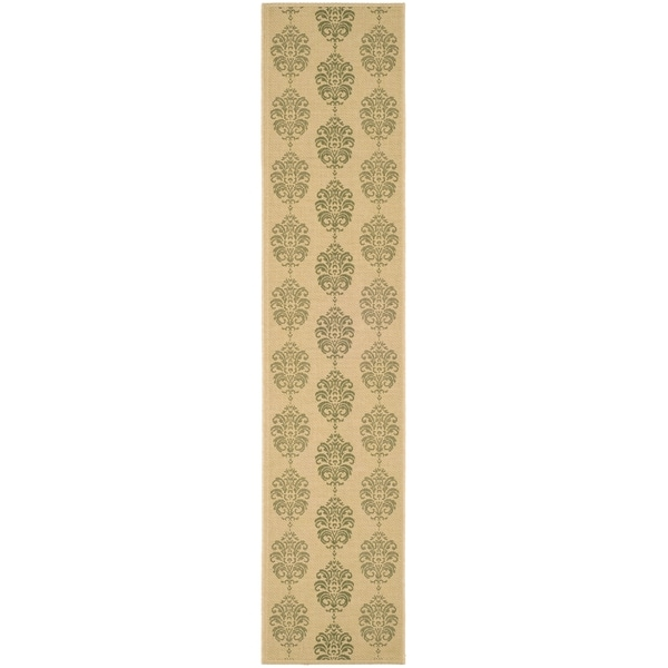 Safavieh Natural/ Olive Indoor Outdoor Rug (2'2 x 12')