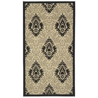 Safavieh Sand/ Black Indoor Outdoor Rug (2' x 3'7)