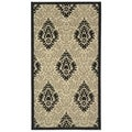 Safavieh Sand/ Black Indoor Outdoor Rug (2' x 3'7)