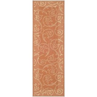 Safavieh Terracotta/ Natural Indoor Outdoor Rug (2'2 x 12')