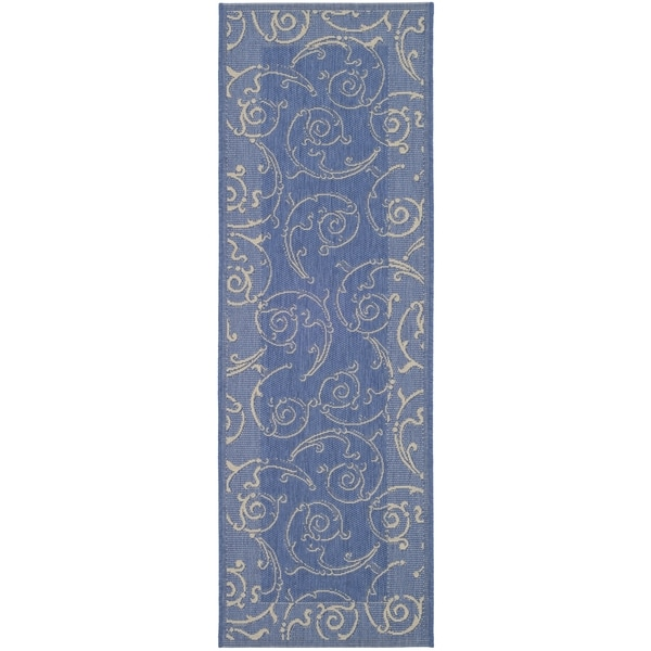 Safavieh Blue Natural Indoor Outdoor Polypropylene Rug 2